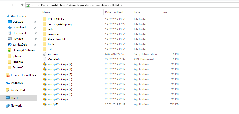 Azure File Sync windows Client
