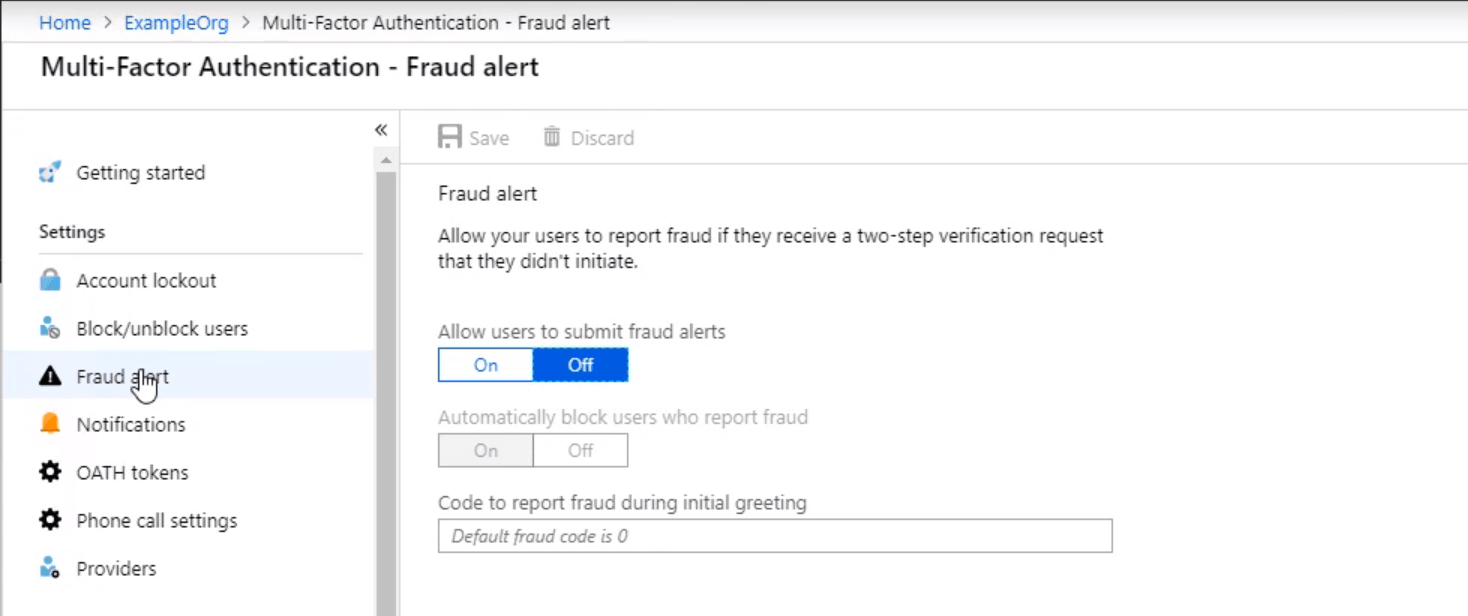 Multi Factor Authentication Fraud Alert min - 10 Adımda Azure Multi-Factor Authentication (MFA)