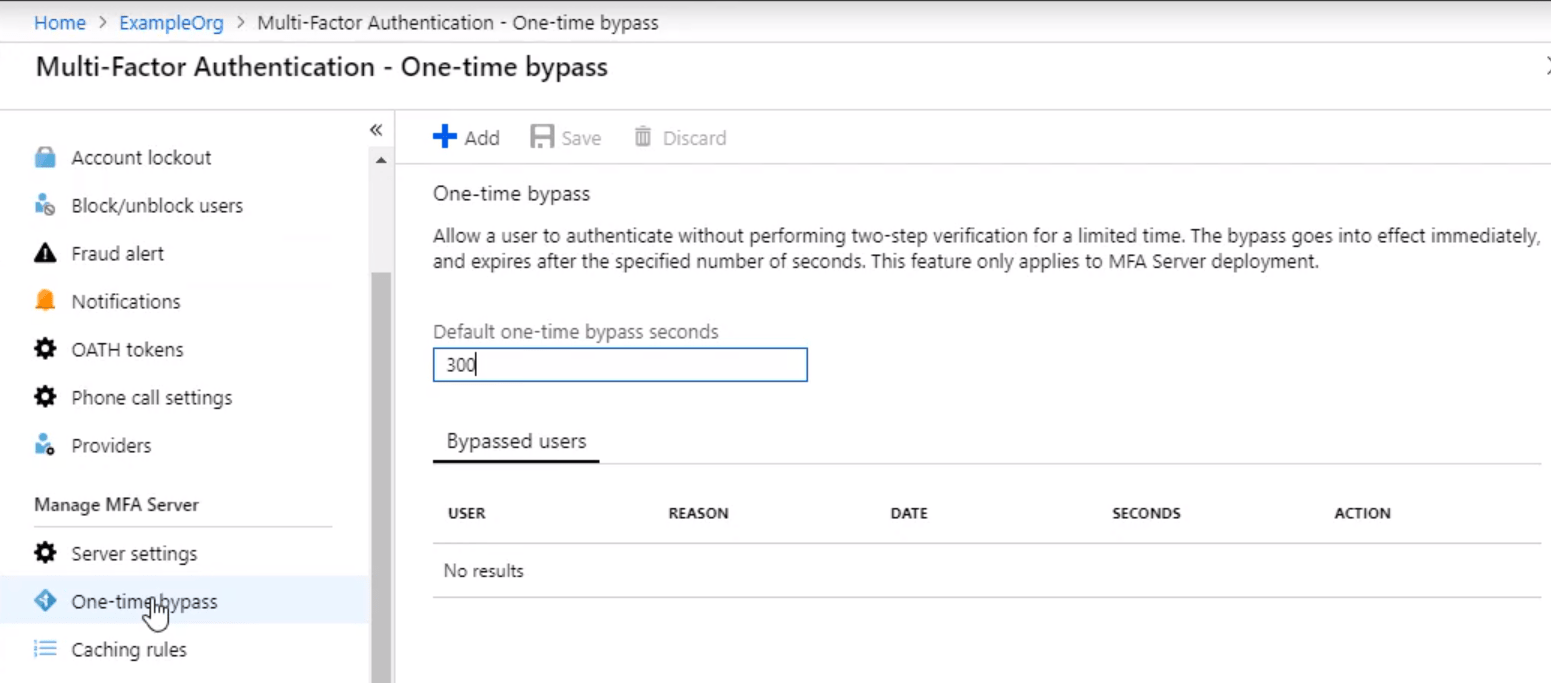 Multi Factor Authentication One Time Baypass min - 10 Adımda Azure Multi-Factor Authentication (MFA)