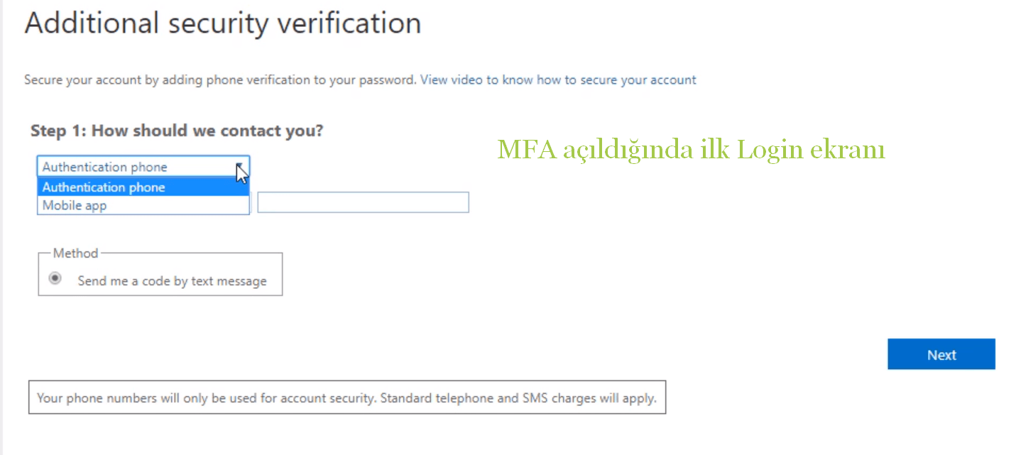 mfa login ekranı - 10 Adımda Azure Multi-Factor Authentication (MFA)